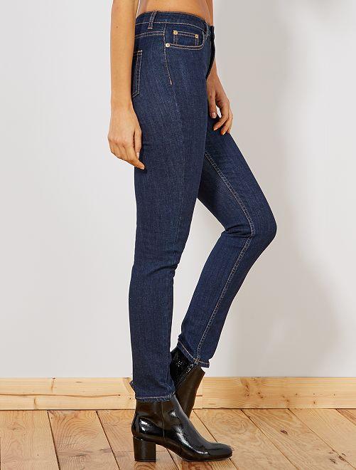 jean slim taille haute femme rince kiabi 18 00. Black Bedroom Furniture Sets. Home Design Ideas