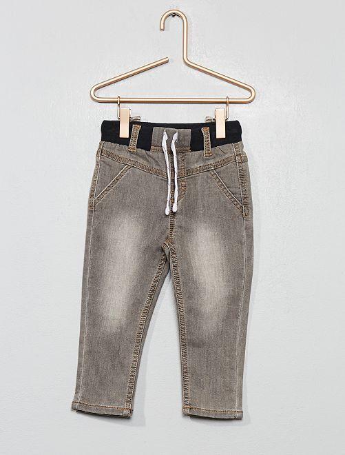 Jean stretch délavé                                         gris