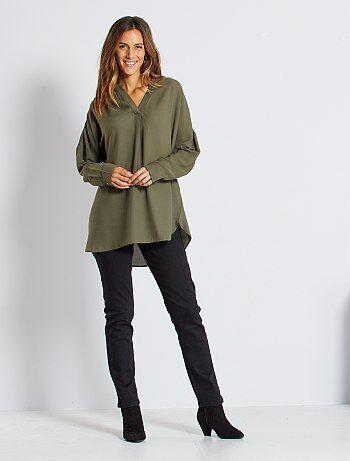 Jean taille haute coupe regular longueur US30 - Kiabi