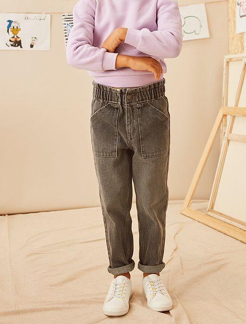 Jean taille haute paper bag                             gris