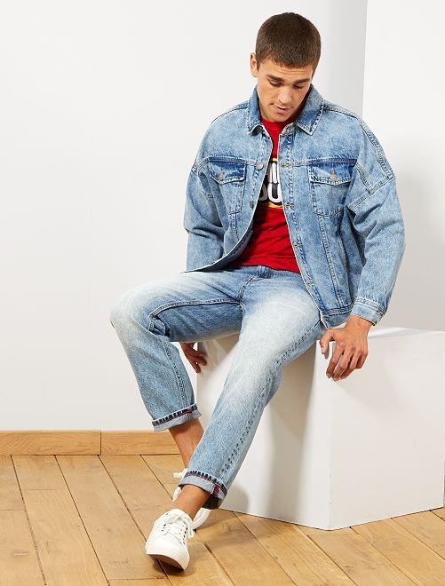 Jean tapered ceinture lacet                             bleach
