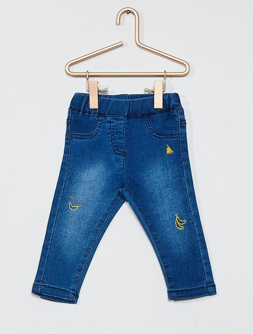 Jegging brodé                             denim
