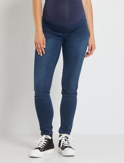 Jegging de grossesse effet denim stretch blue black Femme