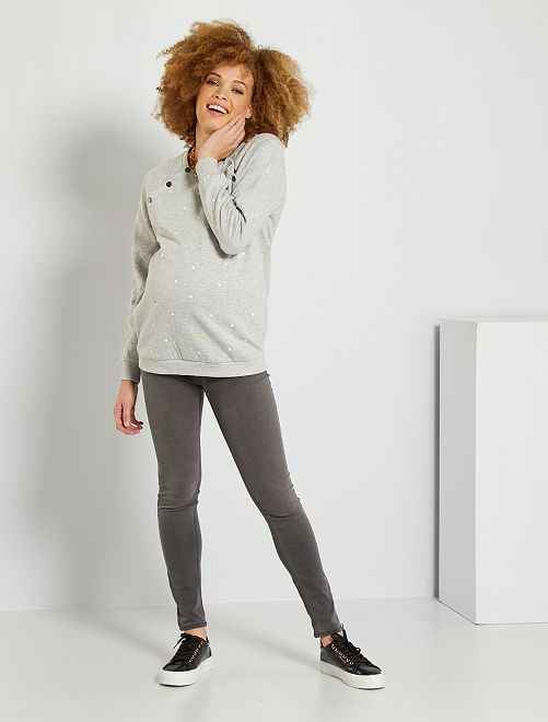 Jegging maternité 'éco-conception'                                                                 gris
