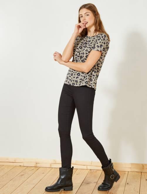 Jegging super skinny taille haute                                                                 black Femme