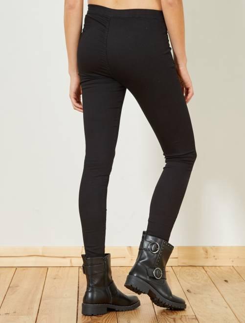 jegging super skinny taille haute femme black kiabi 10 00. Black Bedroom Furniture Sets. Home Design Ideas