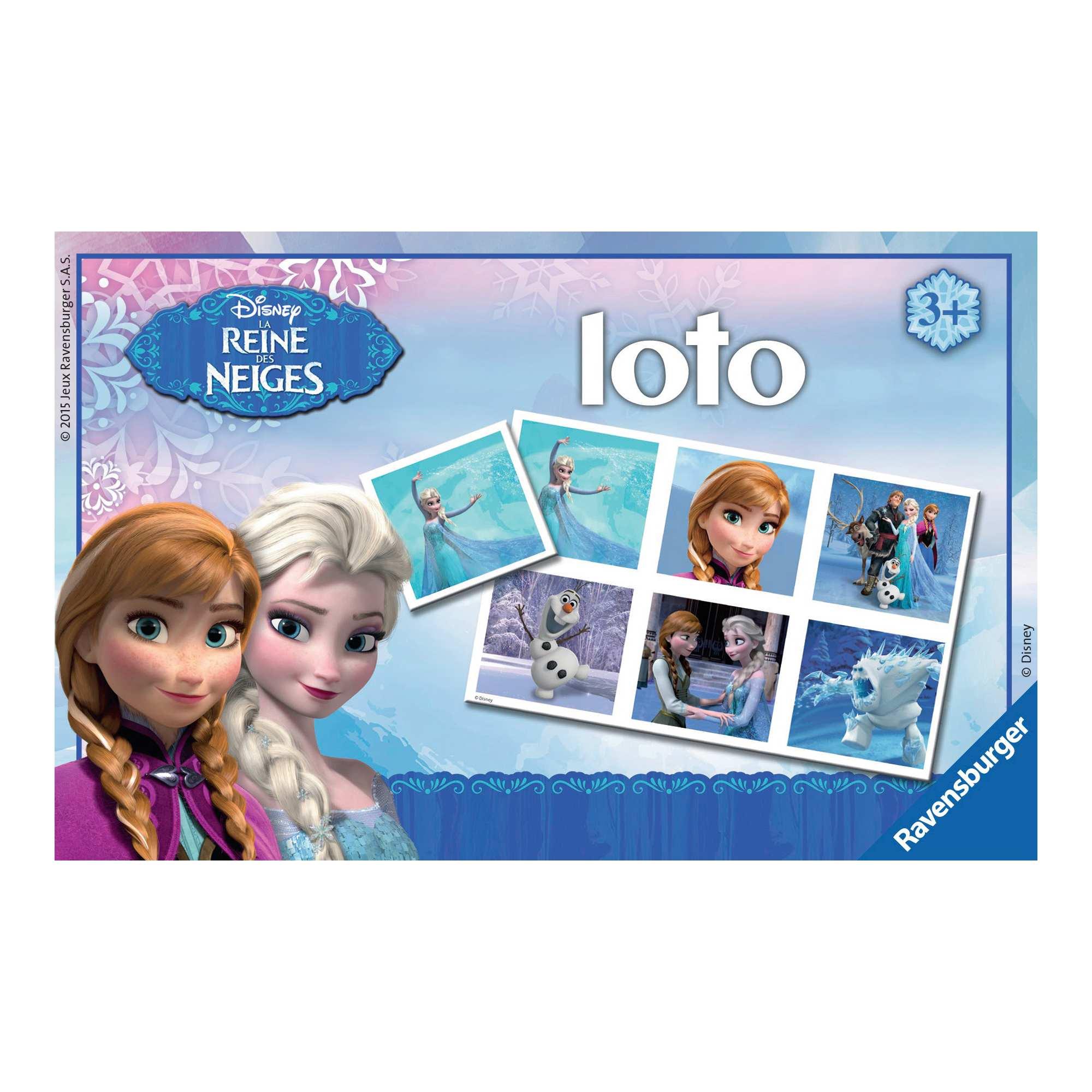 Jeu 39 loto 39 reine des neiges 39 de 39 ravensburger 39 fille - Jeu reine des neige gratuit ...