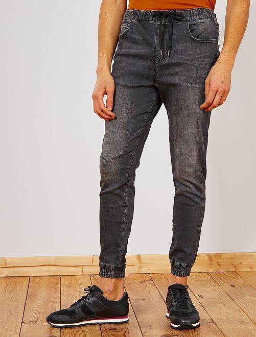 Jogg jean en denim                                                     anthracite Homme
