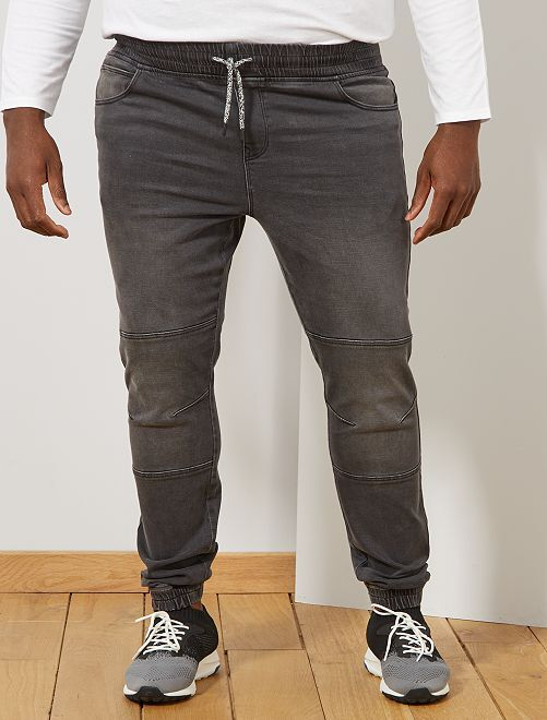 Jogg jean fitted stretch                                         anthracite Grande taille homme