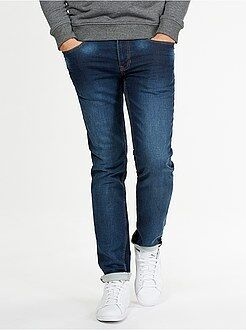 Pantalon - Jogg jean slim maille stretch