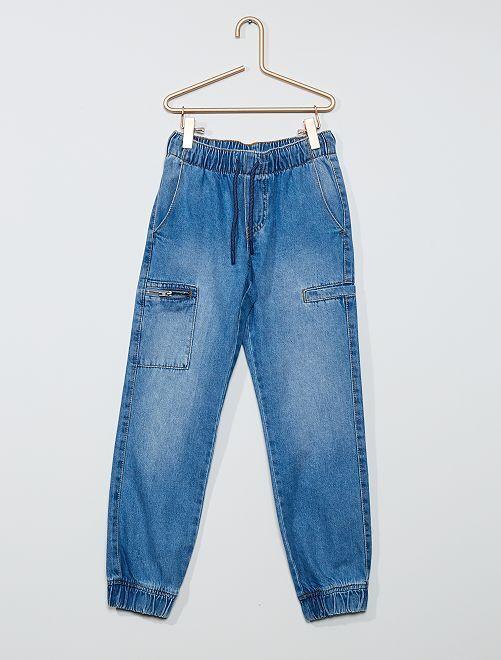 Jogger en jean                             denim