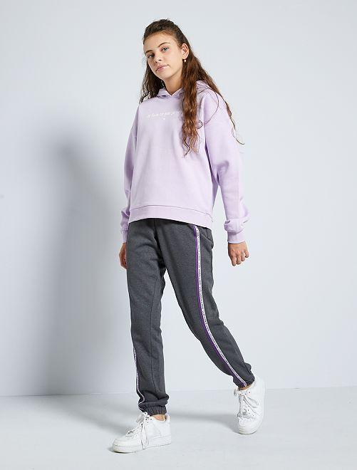 Jogging à bandes latérales                                                     gris foncé