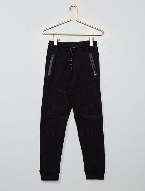 Jogging à poches zippées                             noir