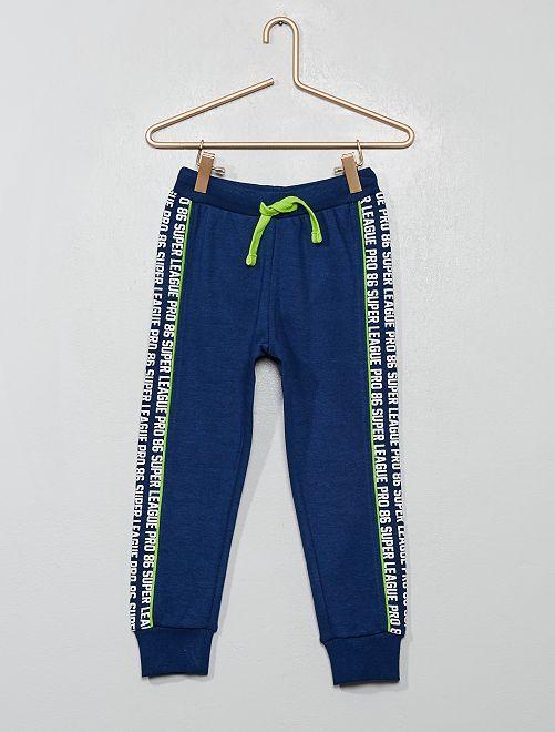 Jogging bandes imprimées                             bleu