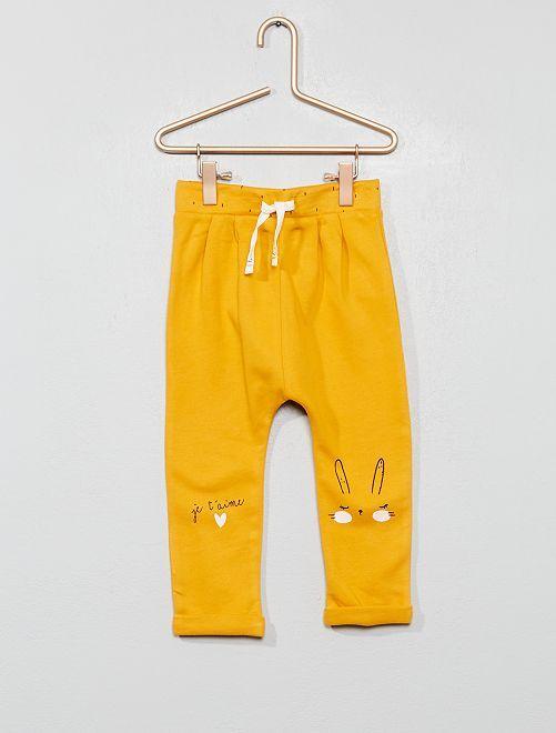 Jogging imprimé                                                     jaune