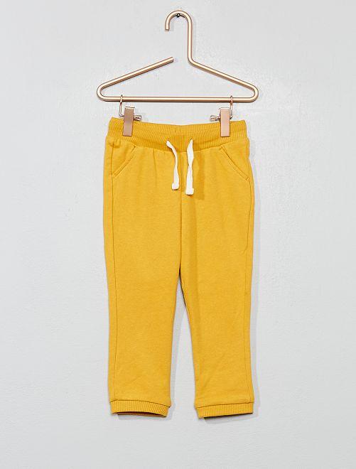 Jogging molletonné uni                                                                                 jaune