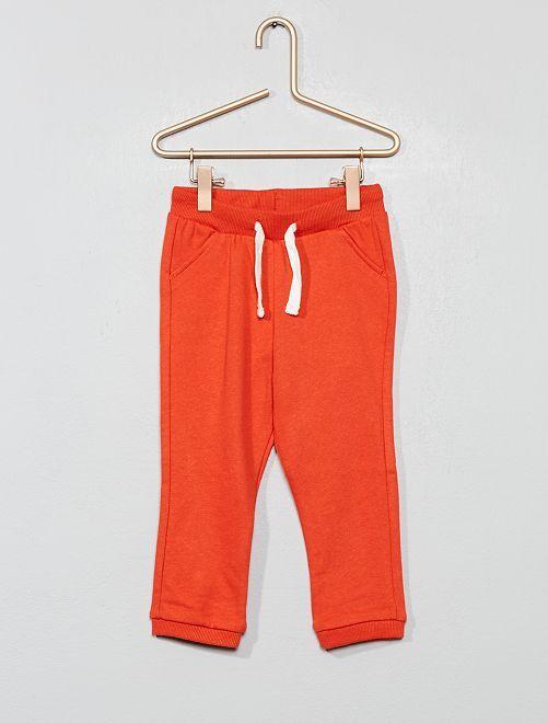 Jogging molletonné uni                                                                 orange Bébé garçon