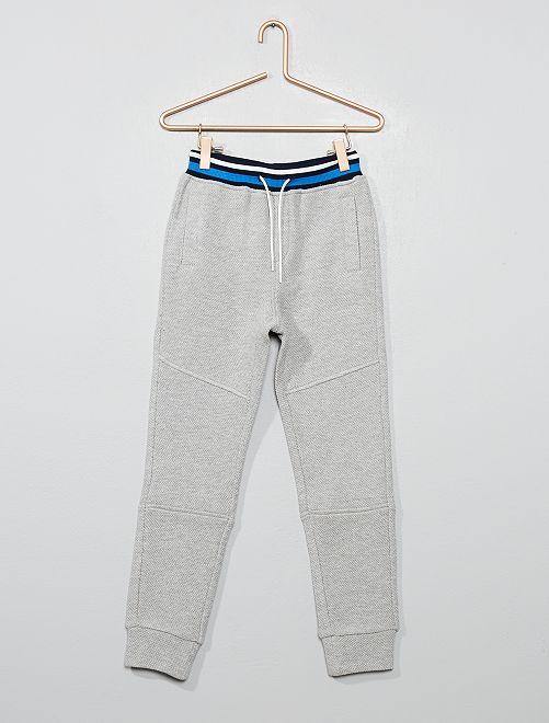 Jogging piqué de coton                                         gris