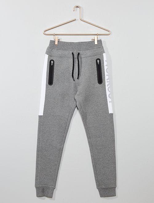 Jogging poches zippées                                         gris Garçon adolescent