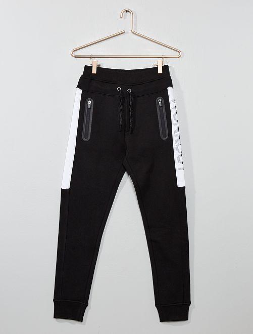 Jogging poches zippées                                                                 noir Garçon adolescent