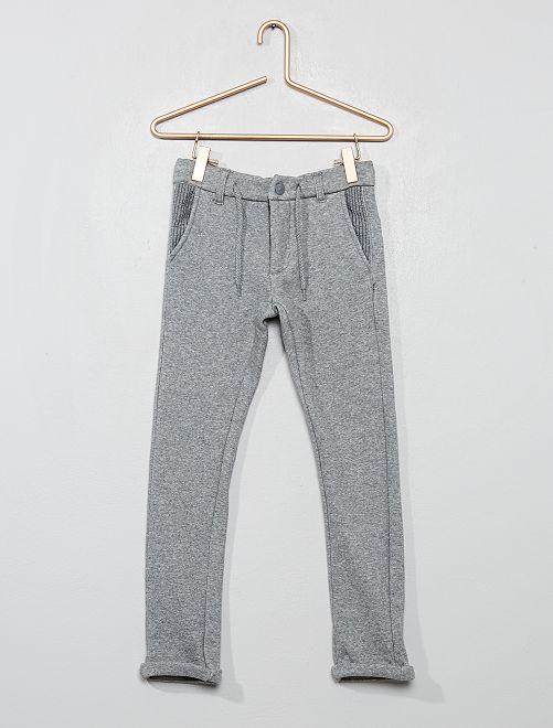 Jogging style pantalon doublé                                                     gris