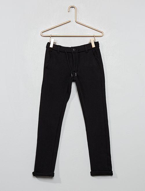 Jogging style pantalon doublé                                                     noir