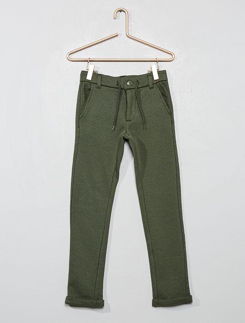 Jogging style pantalon doublé                             vert
