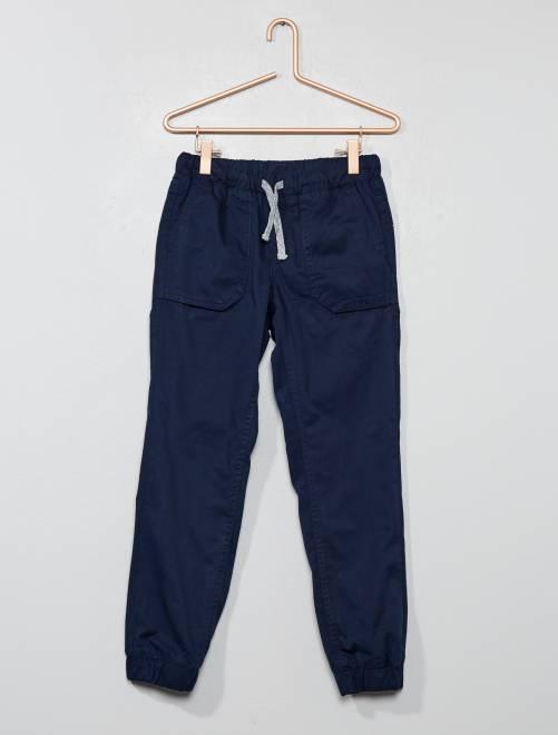 Joggpant doublé en jersey                                                                 bleu marine Garçon