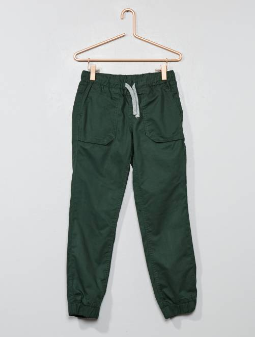 Joggpant doublé en jersey                                                                 vert Garçon