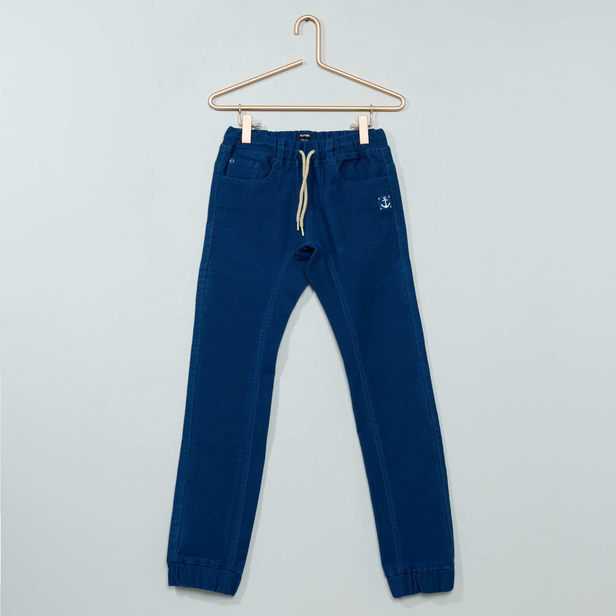 Couleur : gris, bleu, ,, - Taille : 3A, 10A, 8A,4A,6AL'apparence d'un pantalon, le confort d'un jogging ! - Joggpant en coton - Coupe
