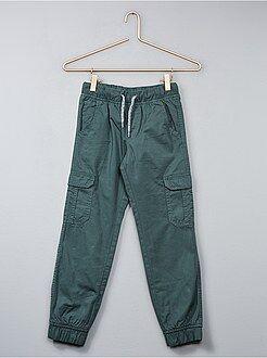 Pantalon - Joggpant en twill - Kiabi