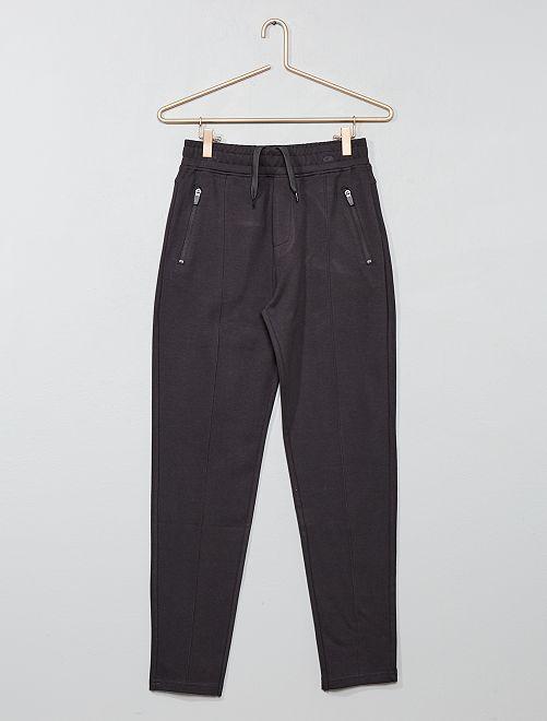 Joggpant poches zippées                             gris foncé Garçon adolescent