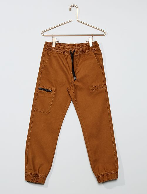 Joggpant regular poche zippée                             camel