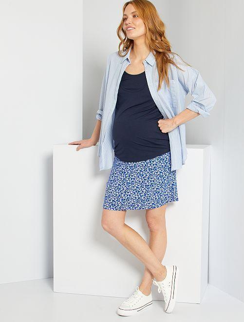 Jupe courte de maternité                                                                             bleu fleuri