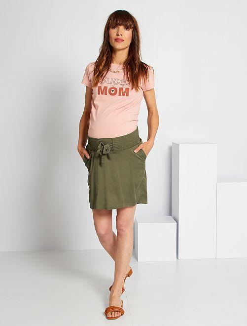 Jupe courte de maternité                                         kaki