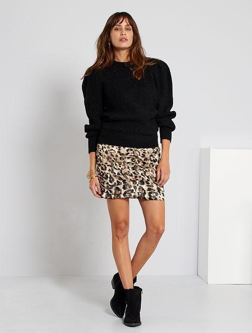 Jupe courte léopard                             léopard