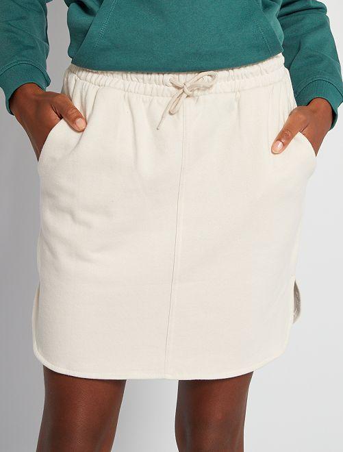 Jupe courte molletonné                                         blanc calcaire