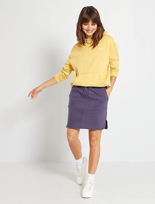 Jupe courte molletonné                                         bleu foncé