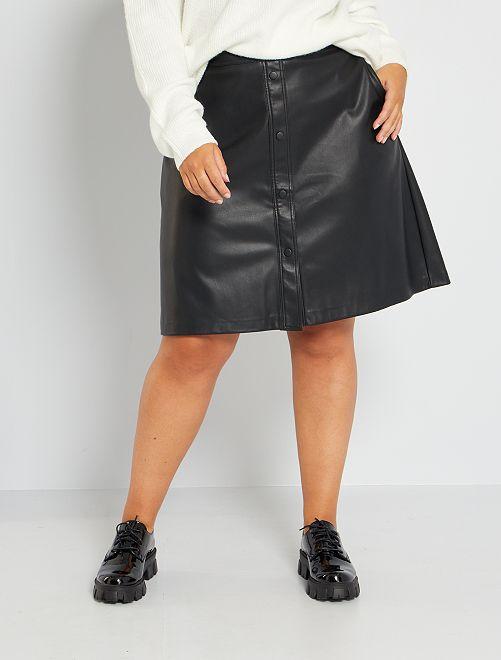 Jupe courte simili                                         noir