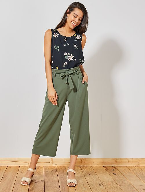 Jupe culotte à pinces 'JDY'                             vert