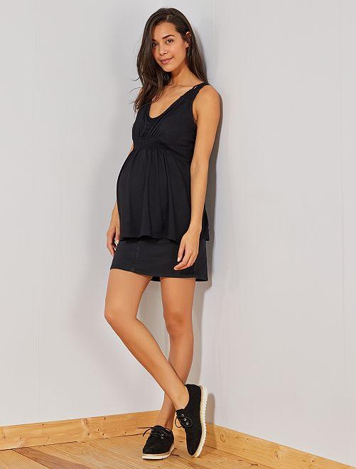 Jupe de maternité en twill                                         noir Vêtement de grossesse