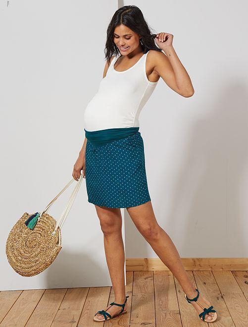 Jupe de maternité fluide                                         vert Vêtement de grossesse