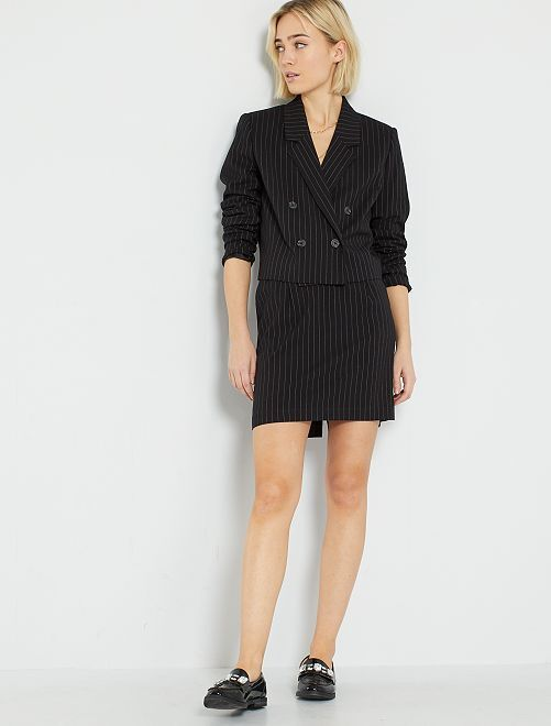 Jupe de tailleur courte                             noir