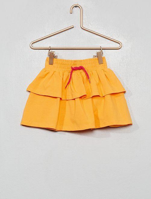 Jupe double volant                             orange