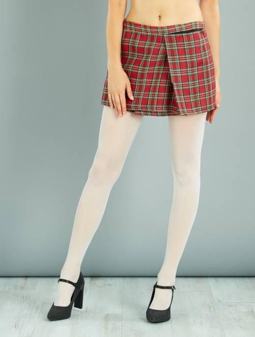 Jupe écossaise                              rouge Femme