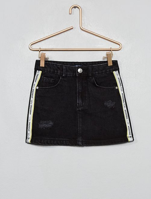 Jupe en denim 'destroy'                                                     denim black