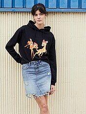 Jupe femme jupe droite, patineuse, tube, denim mode