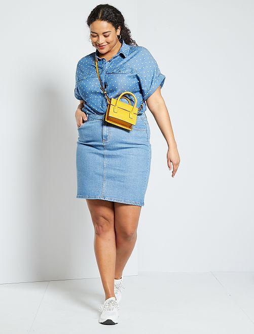 Jupe en jean éco-conception                                         bleu