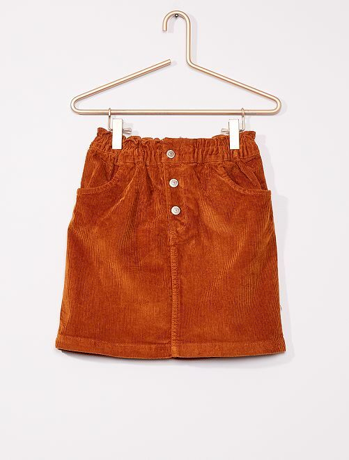 Jupe en velours côtelé                                             orange