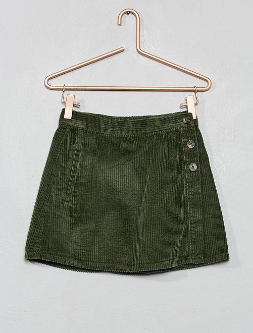 Jupe en velours côtelé                                                                 vert thym